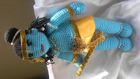 crochet soft toy - Radha Krishna | 159x280