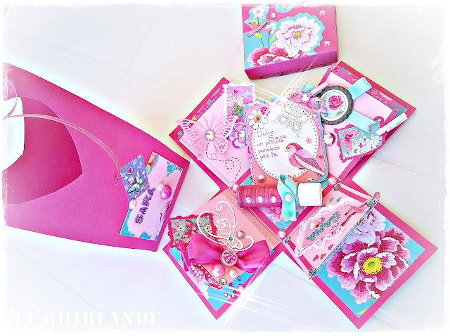 Explosion box in rosa fucsia Le Ghirlande Blog
