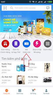 Mã giảm giá trên app Lazada