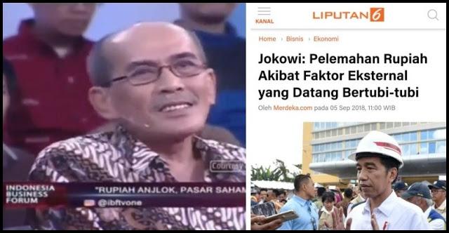 Jokowi Bilang Rupiah Lemah karena Faktor Eksternal, Dibantah Ekonom Faisal Basri