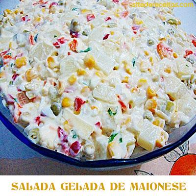 Salada gelada de maionese
