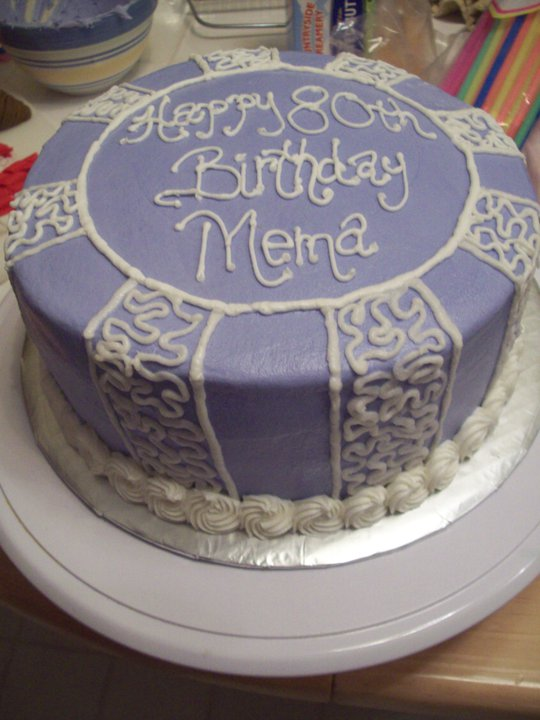 Bb Cakes 80th Birthday Cake
