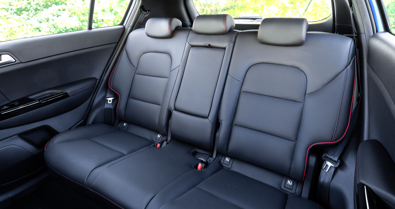 Kia Sportage 48V hybrid rear seats