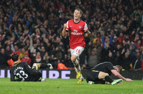 Ramsey ghi bàn khá đều đặn cho Arsenal