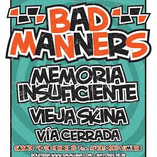 Concierto de BAD MANNERS en Bogotá 2