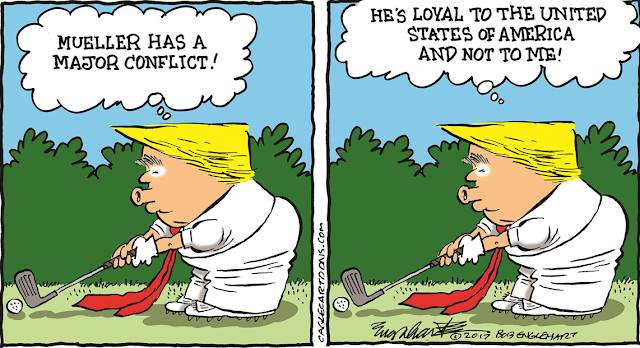 Trump teeing up at golf course thinking,