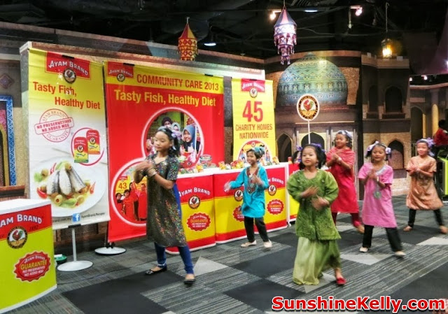 Ayam Brand, Tasty Fish Healthy Diet, community care, charity, csr, children dancing