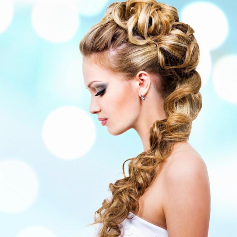 Brautfrisuren Halboffen Seitlich Frisuren Trend 123