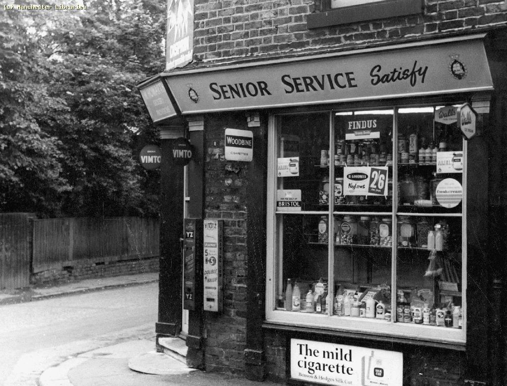 On Smedley Lane in 1965, buying at the corner shop
