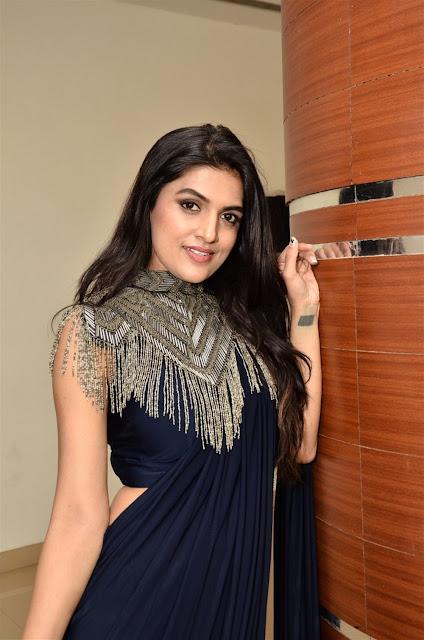 Ritu Biradar Hot Pic in Blue Saree