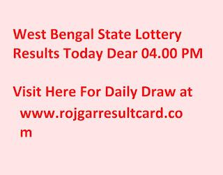 West Bengal State Lottery Dear Banga Sree Damodar 07 09 2019