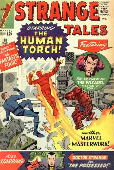 Strange Tales #118, the Human Torch and the Wizard