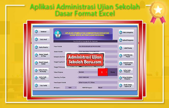 Aplikasi Pembuatan Administrasi Ujian Sekolah Dasar Format Excel