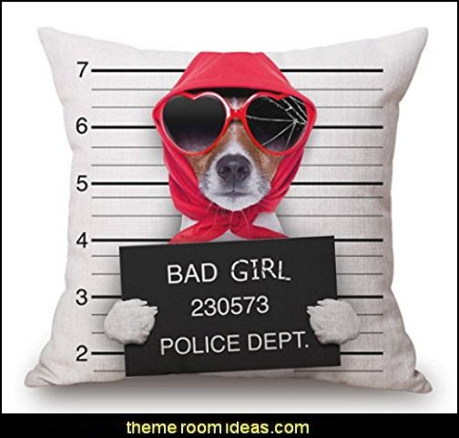 Colorful Fashion cartoon Dog Cycling wear Glasses Hat pattern Cotton Linen Throw Pillow Case Cushion Cover Home Sofa Decorative