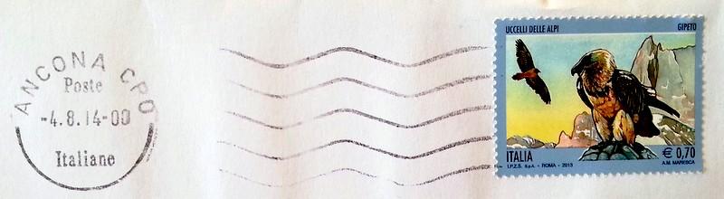 francobollo del 2013 serie Uccelli delle Alpi - GIPETO
