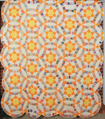 image about Free Printable Double Wedding Ring Quilt Pattern named Quilt Drive: Wedding ceremony Ring Quilt Motivation and