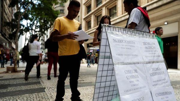 Aumenta el desempleo en Brasil durante trimestre de 2018