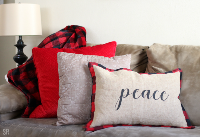 Buffalo plaid couch pillows