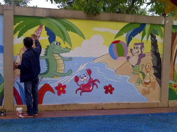 Lukis dinding untuk sekolah for Contoh lukisan mural tadika