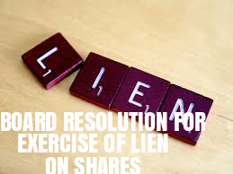 Board-Resolution-Exercise-Lien-on-Shares