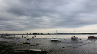 Heybridge basin Estuary with the tide going out - Essex
