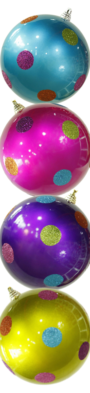 Wayfair Polka Dot Shatterproof Christmas Ball Ornaments (each sold separately)