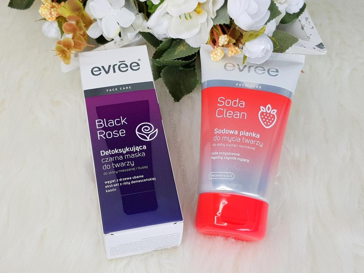 Nowości maj 2018 | maska Evree Black Rose i pasta Soda Clean