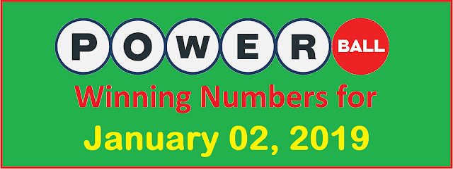 PowerBall Winning Numbers for Wednesday, 02 January 2019