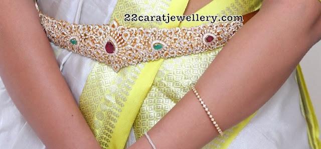Pearls Kundan Choker Diamond Waist Belt