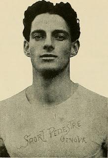 Emilio Lunghi in his Sport Pedestre Genova club vest