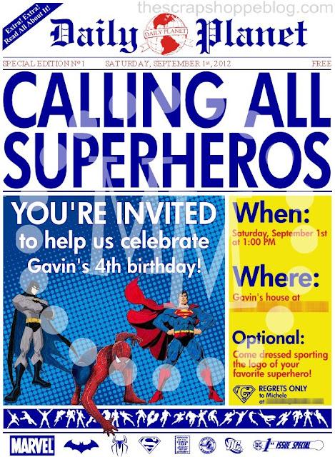 Superhero Birthday Invitation Templates. superhero invitations ...