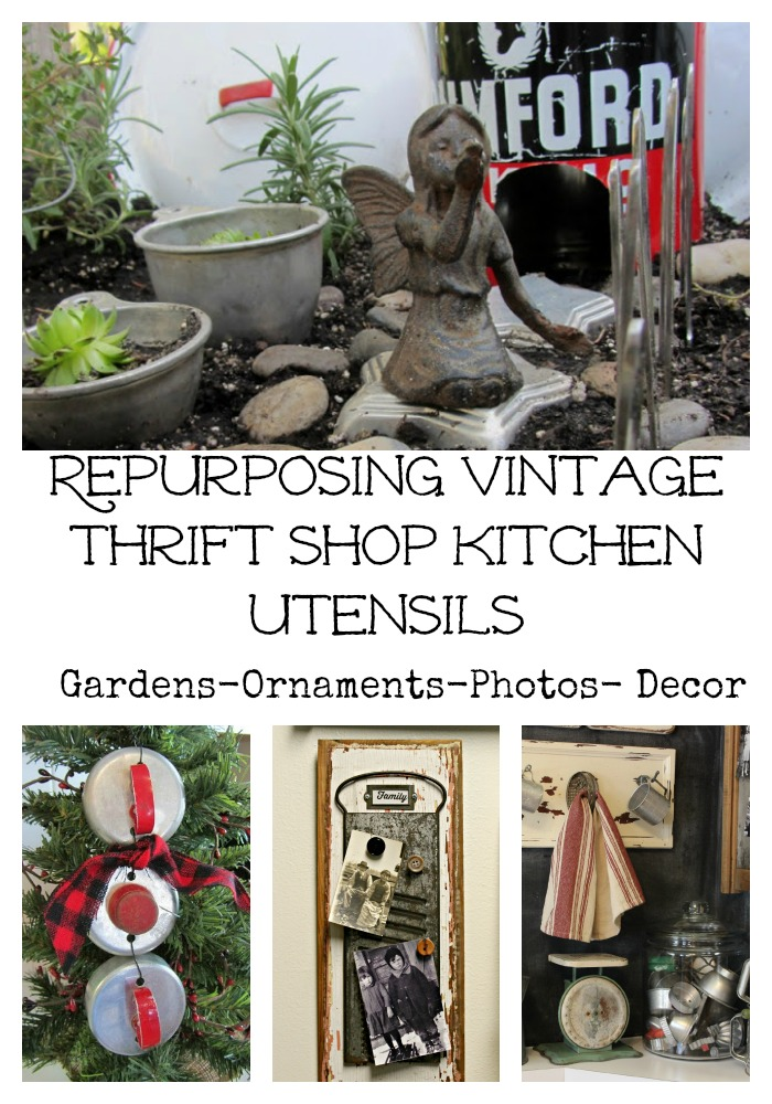 Repurposed Vintage Kitchen Utensils www.organizedclutter.net