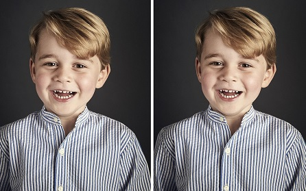 Kate & William Release Adorable Portrait Of The Prince For His 4th Birthday