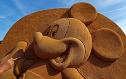 Disney Sand Magic Sculpture Festival opened in Ostend, Belgium