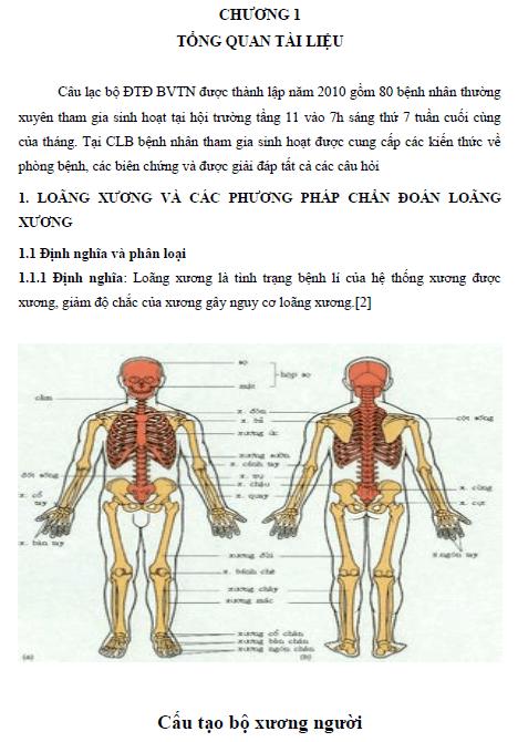 Nguy cơ loãng xương ở bệnh nhân đang sinh hoạt tại câu lạc bộ đái tháo đường Bệnh viện Thanh Nhàn
