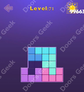 Cheats, Solutions, Walkthrough for Move Blocks Easy Level 71
