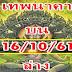 เลขเด็ดเทพนาคา ชุดสรุปบน+ล่าง งวด 16/10/61