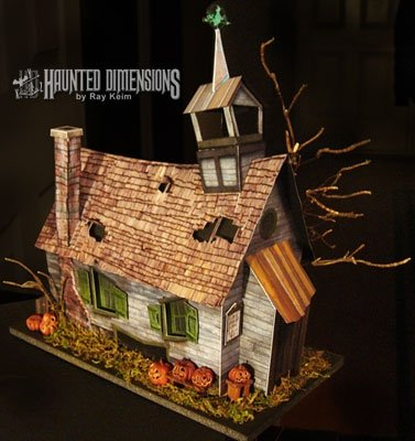Today I Was Looking For Some Fun Crafts And Stumbled Upon This Website That Has Templates Paper Haunted Houses Are Super Sweet Free