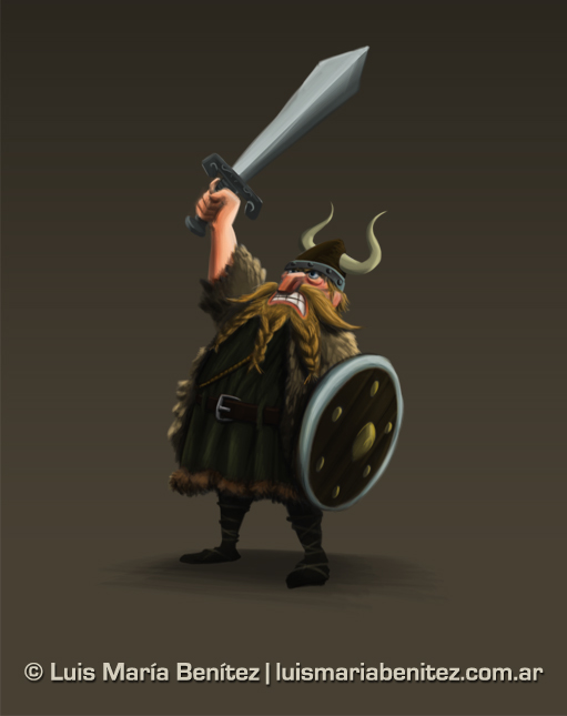 Vikings / Vikingos 1 illustration © Luis María Benítez