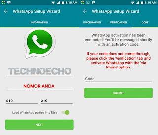 cara pasang 2 whatsapp di android