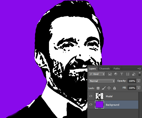 create new layer and fill it with any color in photoshop