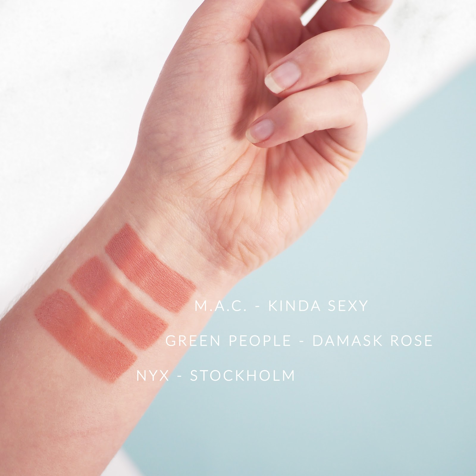 Green People's Damask Rose Velvet Matte Lipstick, nude lipstick