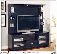 Meja tv lcd minimalis dinding house