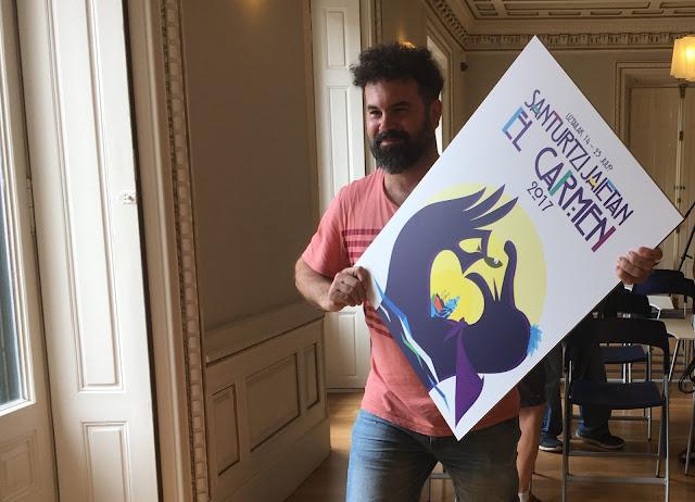 El barakaldés Aritz García gana el concurso del cartel de las fiestas del Carmen de Santurtzi
