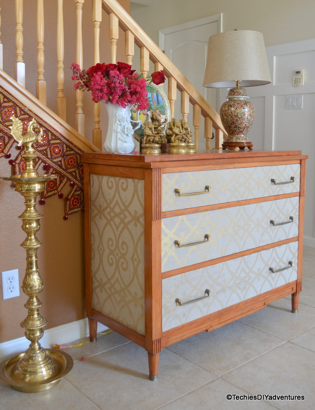 Dual Tone Fabric Wrapped Dresser