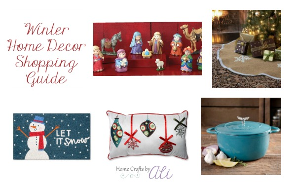 Winter Home Decor Shopping Guide Items for Kitchen Living and Outdoor