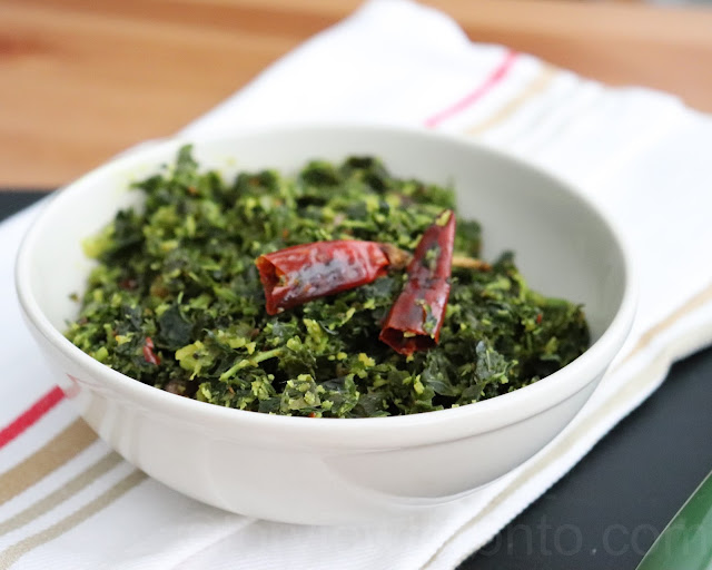 calaloo amaranath leaves side dish