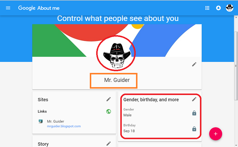 how to change name profile picture in google gmail account with