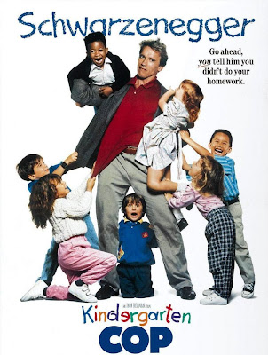 Poster Of Kindergarten Cop (1990) In Hindi English Dual Audio 300MB Compressed Small Size Pc Movie Free Download Only At worldfree4u.com
