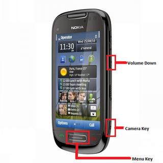 Nokia C 7 3 Finger Formating